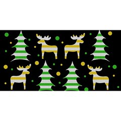 Decorative Xmas Reindeer Pattern You Are Invited 3d Greeting Card (8x4)