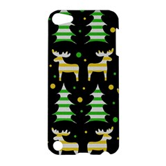 Decorative Xmas Reindeer Pattern Apple Ipod Touch 5 Hardshell Case by Valentinaart