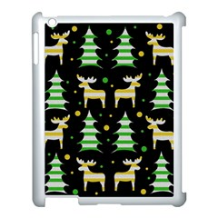 Decorative Xmas Reindeer Pattern Apple Ipad 3/4 Case (white) by Valentinaart
