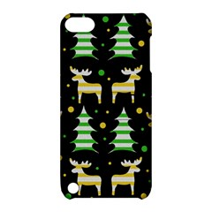 Decorative Xmas Reindeer Pattern Apple Ipod Touch 5 Hardshell Case With Stand by Valentinaart