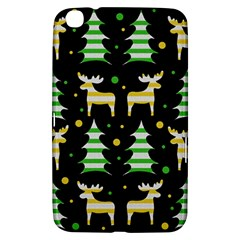 Decorative Xmas Reindeer Pattern Samsung Galaxy Tab 3 (8 ) T3100 Hardshell Case  by Valentinaart