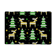 Decorative Xmas Reindeer Pattern Ipad Mini 2 Flip Cases by Valentinaart