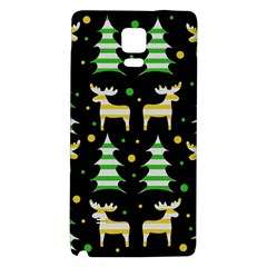 Decorative Xmas Reindeer Pattern Galaxy Note 4 Back Case by Valentinaart