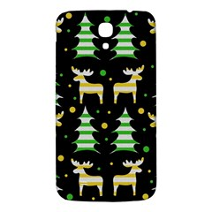 Decorative Xmas Reindeer Pattern Samsung Galaxy Mega I9200 Hardshell Back Case by Valentinaart