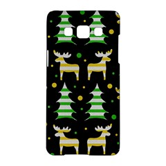 Decorative Xmas Reindeer Pattern Samsung Galaxy A5 Hardshell Case  by Valentinaart