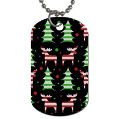 Reindeer Decorative Pattern Dog Tag (two Sides) by Valentinaart