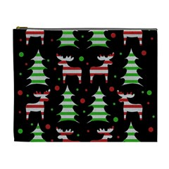 Reindeer Decorative Pattern Cosmetic Bag (xl)