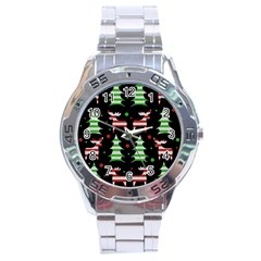 Reindeer Decorative Pattern Stainless Steel Analogue Watch