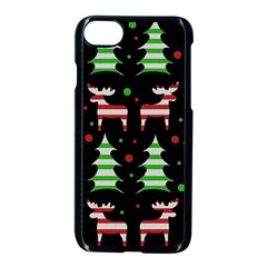 Reindeer Decorative Pattern Apple Iphone 7 Seamless Case (black) by Valentinaart