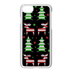 Reindeer Decorative Pattern Apple Iphone 7 Seamless Case (white) by Valentinaart