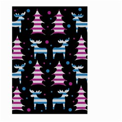 Blue And Pink Reindeer Pattern Large Garden Flag (two Sides) by Valentinaart