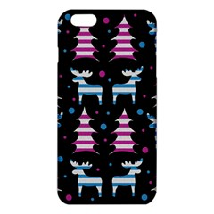 Blue And Pink Reindeer Pattern Iphone 6 Plus/6s Plus Tpu Case by Valentinaart