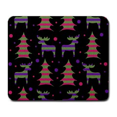 Reindeer Magical Pattern Large Mousepads by Valentinaart