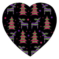 Reindeer Magical Pattern Jigsaw Puzzle (heart) by Valentinaart