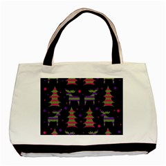 Reindeer Magical Pattern Basic Tote Bag (two Sides) by Valentinaart