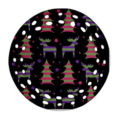 Reindeer Magical Pattern Ornament (round Filigree)