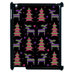 Reindeer Magical Pattern Apple Ipad 2 Case (black) by Valentinaart