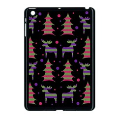 Reindeer Magical Pattern Apple Ipad Mini Case (black) by Valentinaart