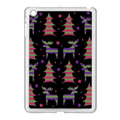 Reindeer Magical Pattern Apple Ipad Mini Case (white) by Valentinaart