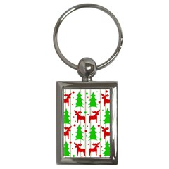 Reindeer Elegant Pattern Key Chains (rectangle)  by Valentinaart