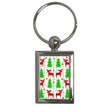 Reindeer elegant pattern Key Chains (Rectangle)  Front