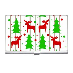Reindeer Elegant Pattern Business Card Holders by Valentinaart