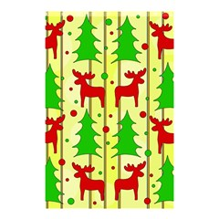 Xmas Reindeer Pattern   Yellow Shower Curtain 48  X 72  (small)  by Valentinaart