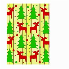 Xmas Reindeer Pattern   Yellow Large Garden Flag (two Sides) by Valentinaart
