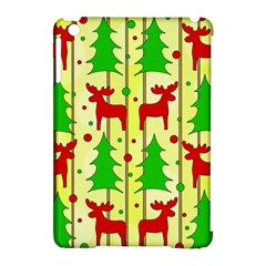 Xmas Reindeer Pattern   Yellow Apple Ipad Mini Hardshell Case (compatible With Smart Cover) by Valentinaart