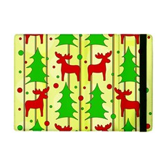 Xmas Reindeer Pattern   Yellow Ipad Mini 2 Flip Cases by Valentinaart