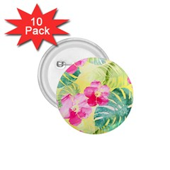 Tropical Dream Hibiscus Pattern 1 75  Buttons (10 Pack) by DanaeStudio