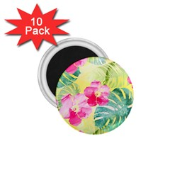 Tropical Dream Hibiscus Pattern 1 75  Magnets (10 Pack)  by DanaeStudio