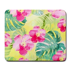 Tropical Dream Hibiscus Pattern Large Mousepads by DanaeStudio