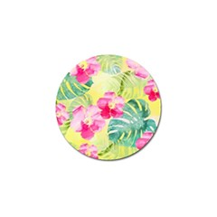 Tropical Dream Hibiscus Pattern Golf Ball Marker by DanaeStudio