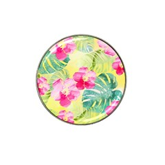 Tropical Dream Hibiscus Pattern Hat Clip Ball Marker (10 Pack) by DanaeStudio