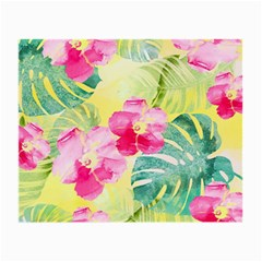 Tropical Dream Hibiscus Pattern Small Glasses Cloth by DanaeStudio
