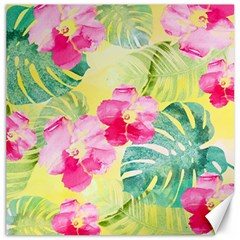 Tropical Dream Hibiscus Pattern Canvas 20  X 20   by DanaeStudio