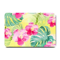Tropical Dream Hibiscus Pattern Small Doormat  by DanaeStudio