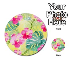 Tropical Dream Hibiscus Pattern Multi Purpose Cards (round)  by DanaeStudio