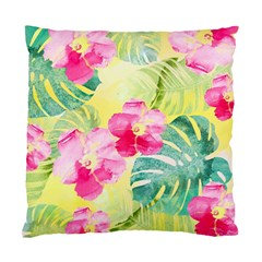 Tropical Dream Hibiscus Pattern Standard Cushion Case (one Side) by DanaeStudio