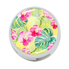 Tropical Dream Hibiscus Pattern 4 Port Usb Hub (one Side) by DanaeStudio