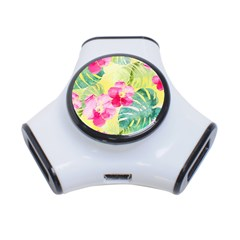 Tropical Dream Hibiscus Pattern 3 Port Usb Hub by DanaeStudio