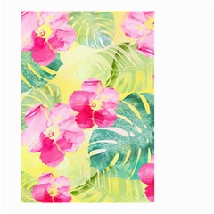 Tropical Dream Hibiscus Pattern Small Garden Flag (two Sides) by DanaeStudio