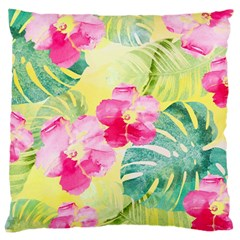 Tropical Dream Hibiscus Pattern Large Cushion Case (one Side) by DanaeStudio