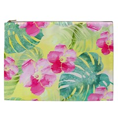 Tropical Dream Hibiscus Pattern Cosmetic Bag (xxl)