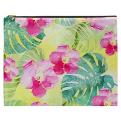 Tropical Dream Hibiscus Pattern Cosmetic Bag (xxxl)  by DanaeStudio