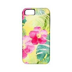 Tropical Dream Hibiscus Pattern Apple Iphone 5 Classic Hardshell Case (pc+silicone) by DanaeStudio