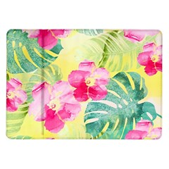 Tropical Dream Hibiscus Pattern Samsung Galaxy Tab 10 1  P7500 Flip Case by DanaeStudio