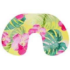 Tropical Dream Hibiscus Pattern Travel Neck Pillows