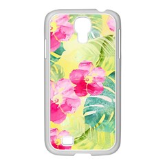 Tropical Dream Hibiscus Pattern Samsung Galaxy S4 I9500/ I9505 Case (white)